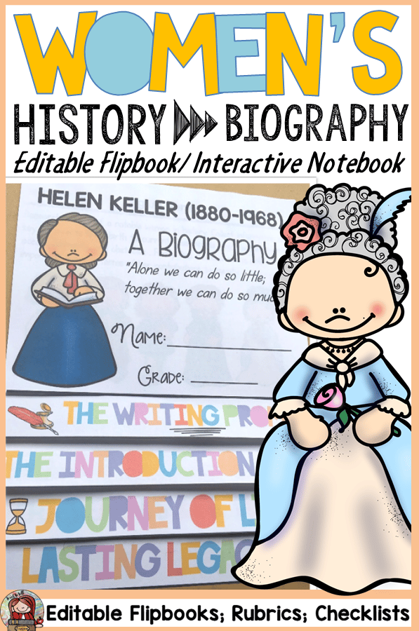 women's history flipbook