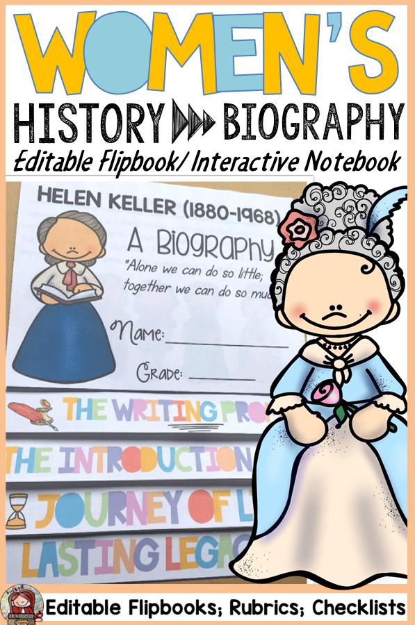 women's history flipbook