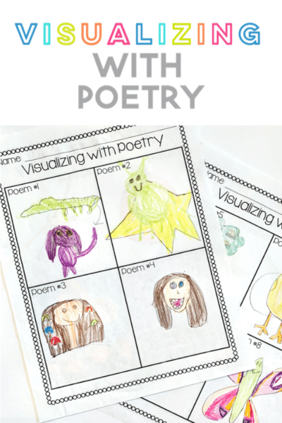 Freebie for visualizing with poetry for elementary students during national poetry month