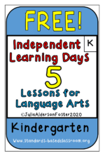 Independent Learning Lessons for Kindergarten