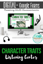 Though the screen – Character Traits assessment, Google Form