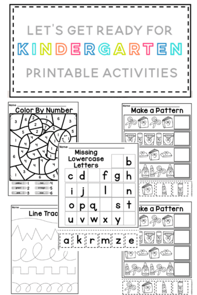 Free Preschool Worksheets focused on counting, the alphabet cutting and pasting