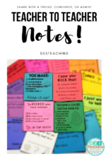 Teacher Appreciation and Encouragement Notes – Easy to Make a Teacher's Day