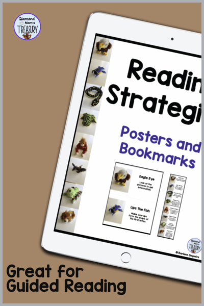 These bookmarks have images and reading strategies that help beginning readers to make meaning out of words. #readingstrategies #reading #bookmarks #readingstrategies