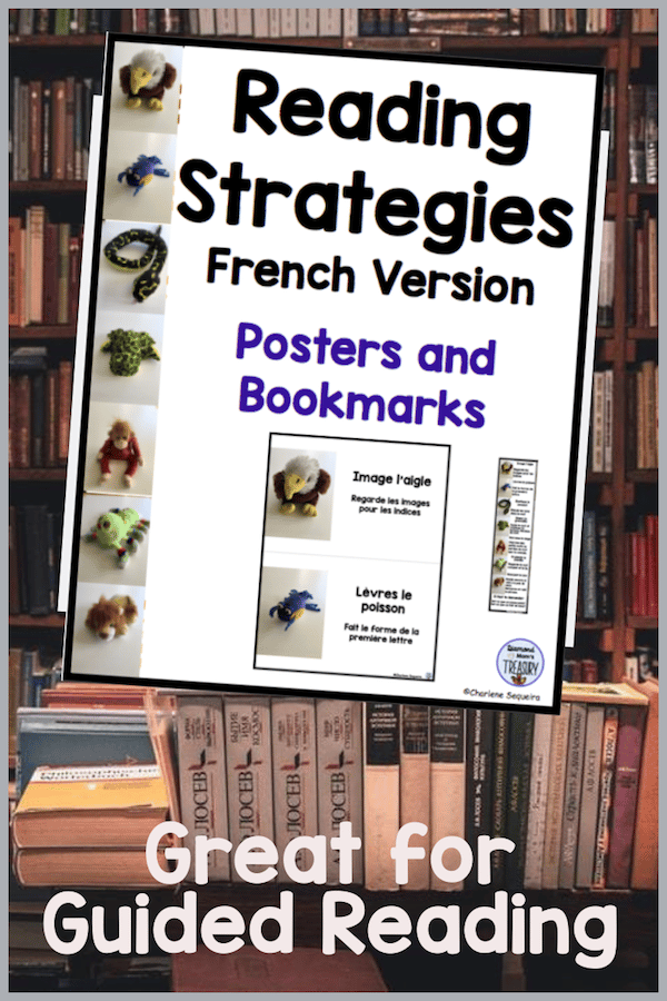 These bookmarks have images and reading strategies that help beginning readers to make meaning out of words. This set has been adapted for French. #readingstrategies #reading #bookmarks #French #readingstrategiesFrenchversion