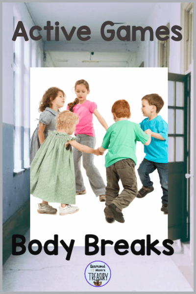 Active games are activities that work well for daily body breaks. They can be used at school or at home. Great indoor recess activities.#activegames #indoorrecess #bodybreaks