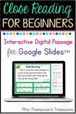 Free Beginning Reader Passage for Google Slides™