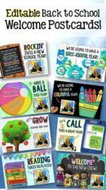 Rockin' into a new school year: FREE Editable Back to School Postcard