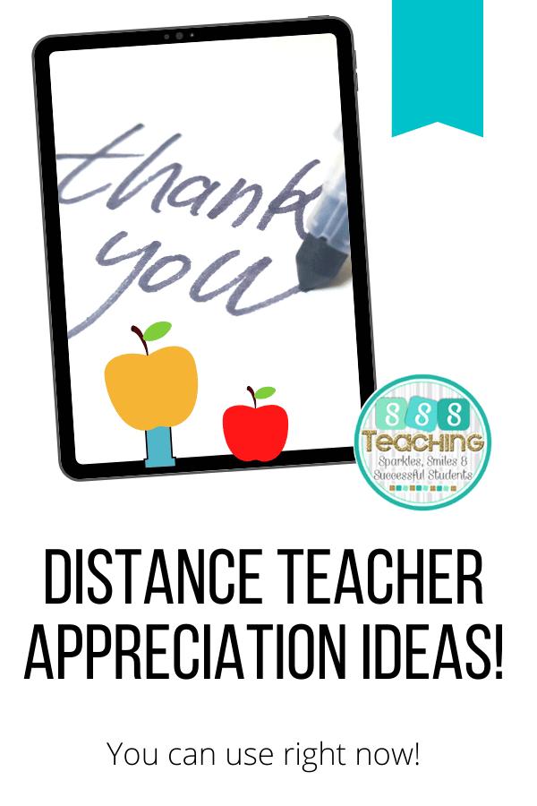 VIRTUAL TEACHER APPRECIATION Week 2020 IDEAS FOR DISTANCE ...