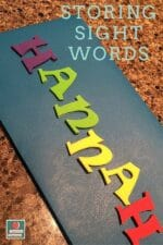 Sight Word Storage Folder