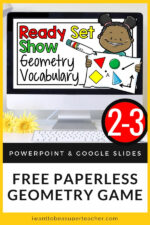 Distance Learning Math Game: Geometry Vocabulary