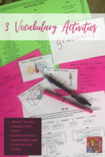 Vocabulary Activities for Upper Elementary