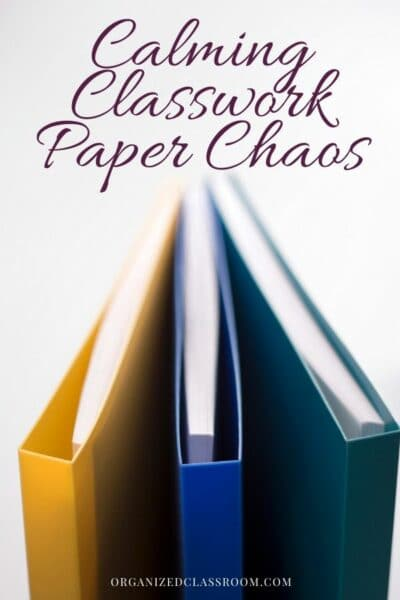 Easy Way to Control Classroom Papers