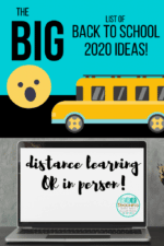 Shhhhh….secret Back to School 2020 Introduction Activities even for distance learning