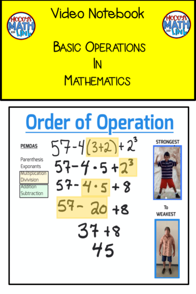 Video Notebook - Basic Operations in math (book Cover)