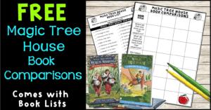 Free Magic Tree House Book Comparison Terri's Teaching Treasures