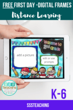 FREEBIE you want your face in- Digital Frames your first day back to school distance learning!