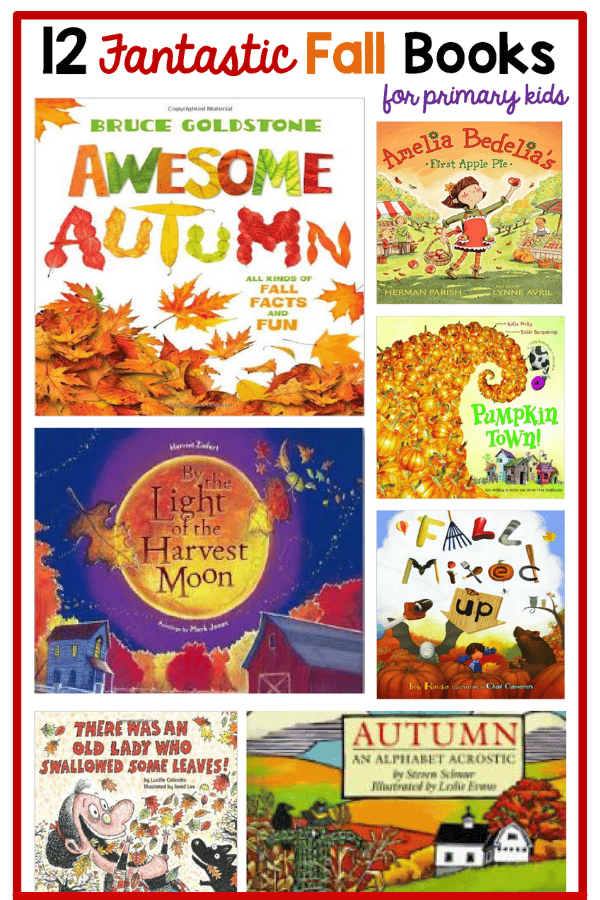 A list of fall books for primary kids