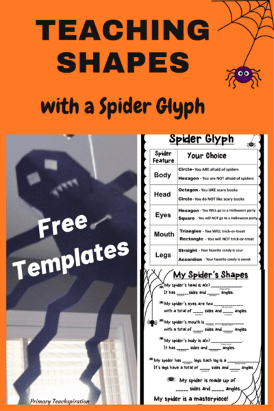Teaching Shapes with a Spider Glyph Free Templates