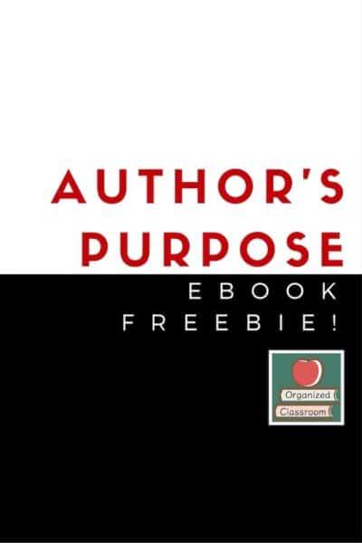 Teaching Author's Purpose