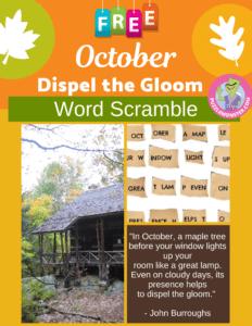 October Word Scramble