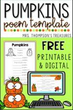 Free Pumpkin Poem Template