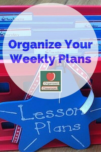 Lesson Planning Organization