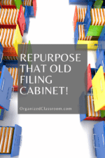 Classroom Filing Cabinet Makeover