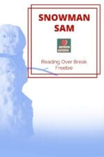 Winter Break Snowman Reading Log