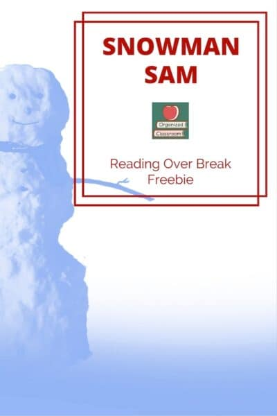 Winter Break Snowman Reading Log