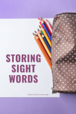 Sight Word Parent Sheet