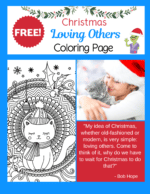 Christmas Quote Coloring Page – Wind Down and Relax