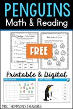 Penguin Free Math & Reading Activities