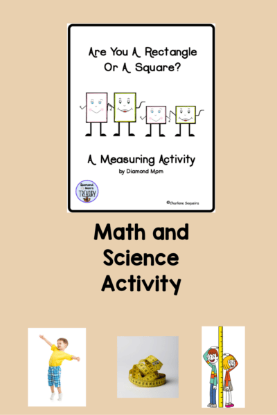 This measurement activity uses the scientific process as well for discovering whether one is a rectangle or a square. #mathactivity #measurementactivity #scientifcprocess