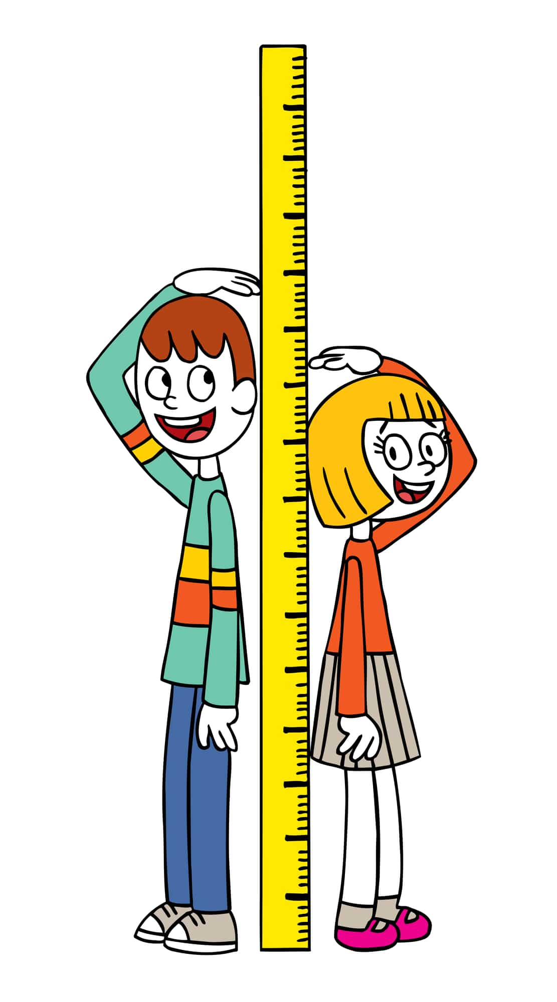 Measuring height is part of the experiment