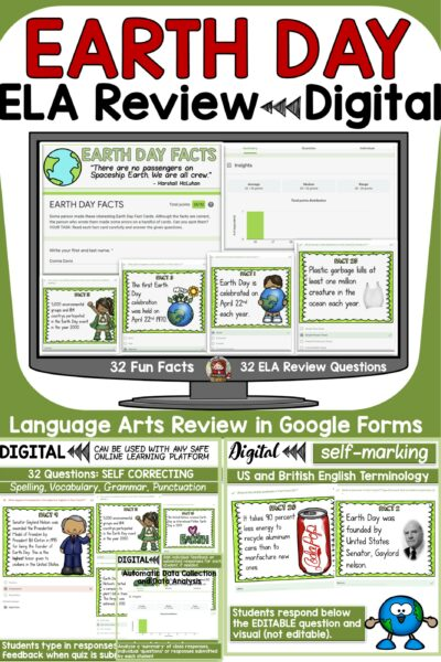 Earth Day ELA Testing Activity