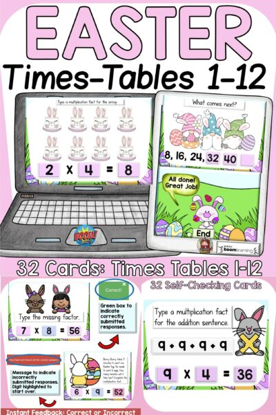 easter multiplication math activity