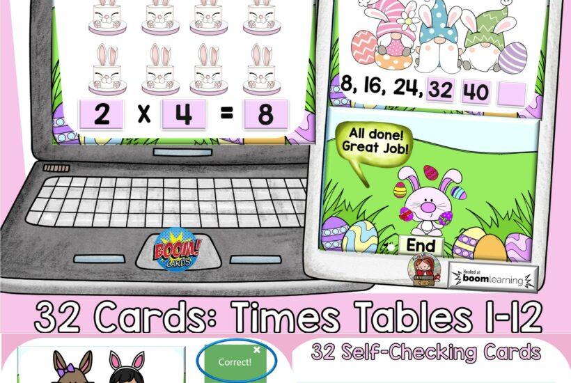 easter multiplication math activity