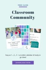 Wave your magic wand, 1…2…3… Now you've got classroom community