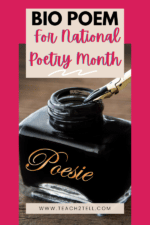 National Poetry Month (April) Poetry Activity