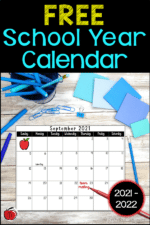 Free 2021-2022 School Year Calendar