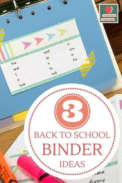 Using Binders for Classroom Organization