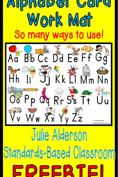 pinnable image for alphabet card and work mat