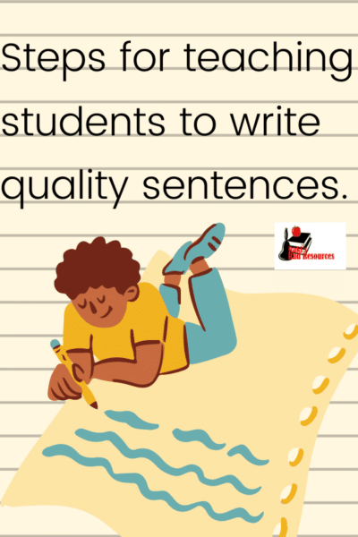 Teach students to write quality sentences before expecting paragraphs.