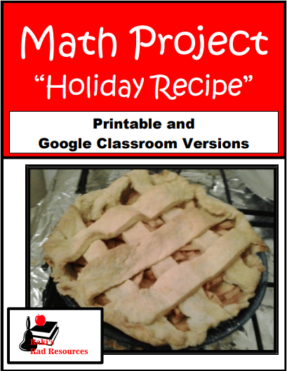 Math Project - Holiday Recipes - Great for integrating lots of standards